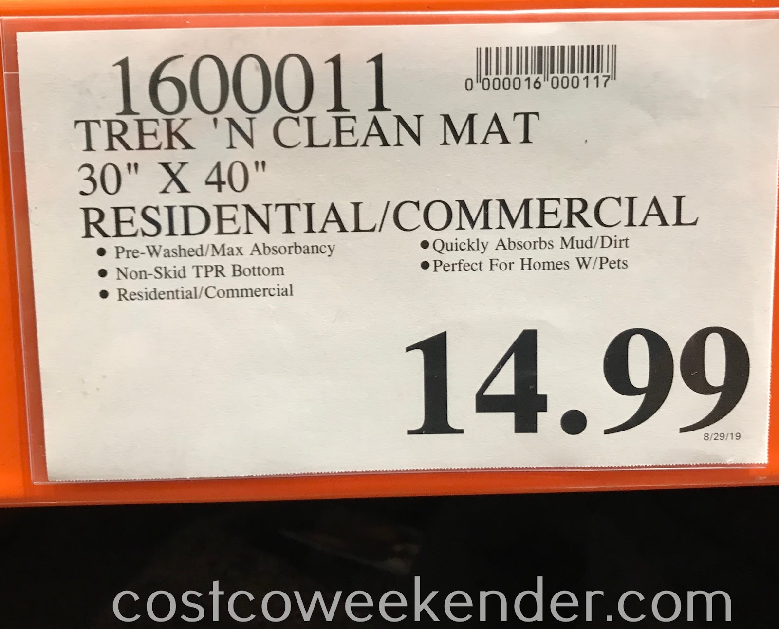 Deal for the Trek N' Clean Absorbent Floor Mat at Costco
