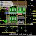 مخطط منزل صغير 8x15 اوتوكاد dwg