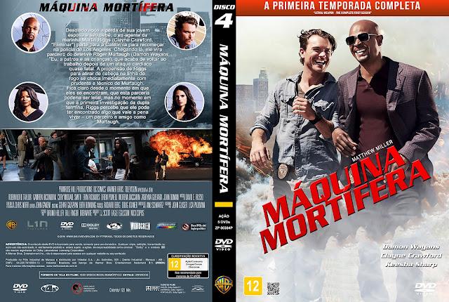 Capa DVD Máquina Mortífera Primeira Temporada Disco 4