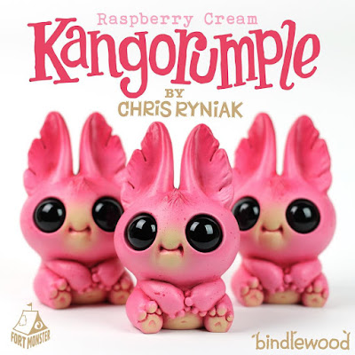 Raspberry Cream Kangorumple Resin Figure by Chris Ryniak