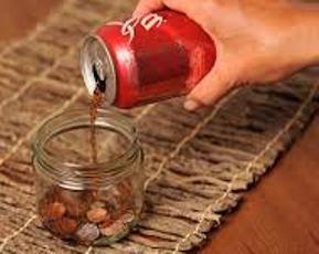 cara membersihkan uang logam berkerak