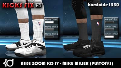 dd1ecfa404c8 NBA 2K12 Nike Zoom KD IV HD Shoes Patch - Mike Miller Pack PATCH