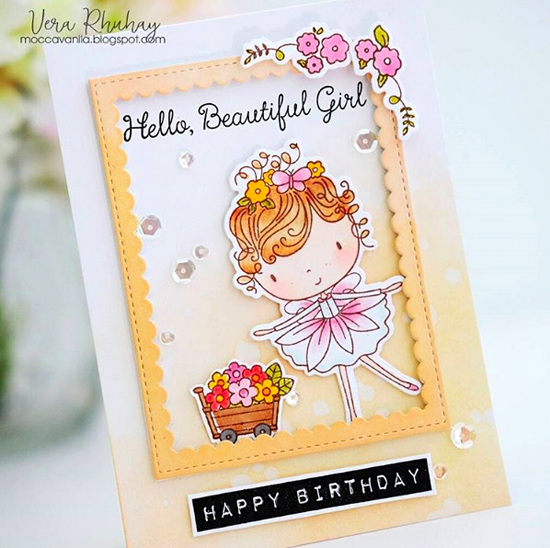 Beautiful Girl stamp set and Die-namics - Vera Rhuhay #mftstamps