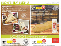 Longos Flyer Monthly Menu valid August 25 - September 21, 2017