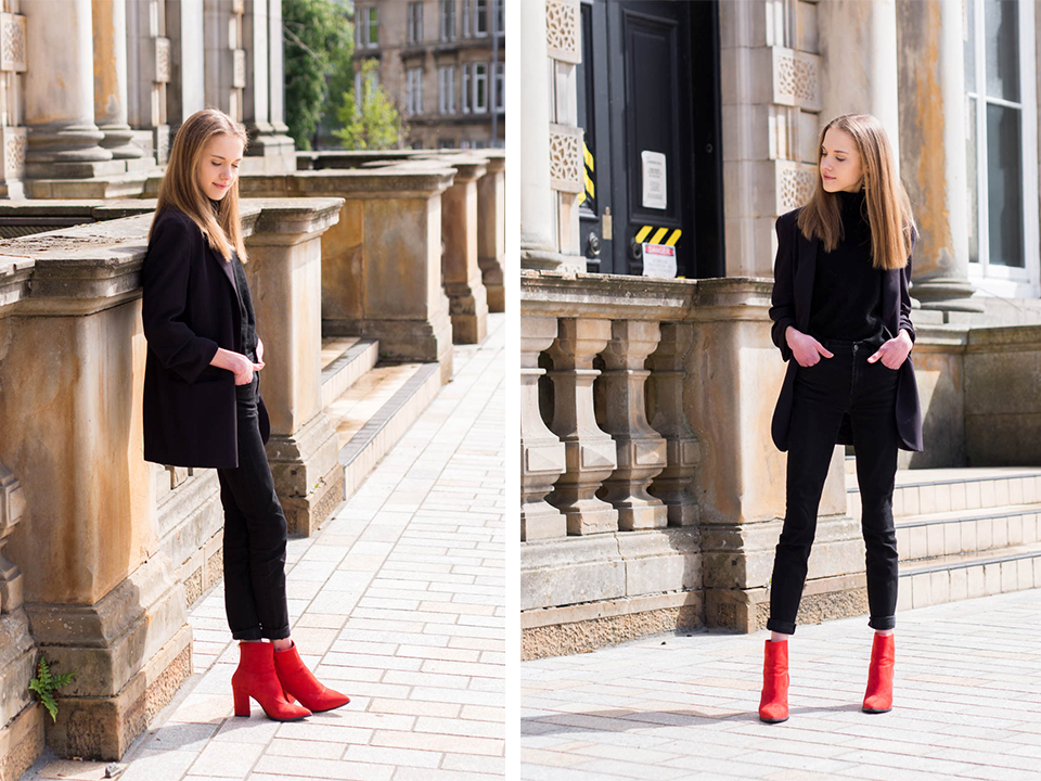 all-black-outfit-with-red-ankle-boots-fashion-blogger-inspiration