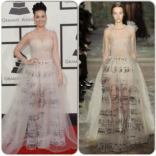 Katy Perry in Valentino – 2014 Grammy Awards