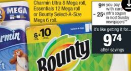 bounty deal at cvs cvs couponers