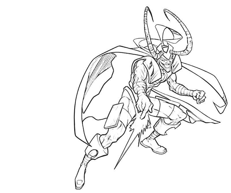 avengers coloring pages loki - photo#23