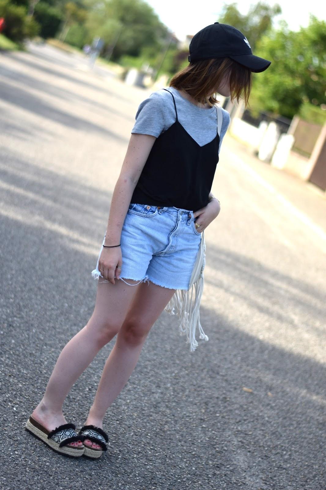 outfit summer casquette adidas choker