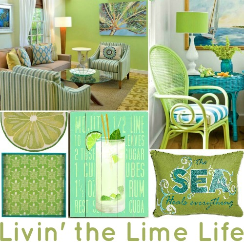 Lime Green Decor Coastal Decor Ideas Interior Design Diy Shopping