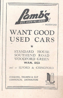 Lambs Ltd advert in the Motor magazine dated 5 May 1948
