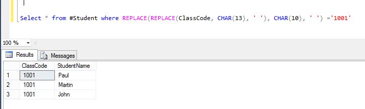 60) Remove Line Breaks in Sql Server ~ CodeAndYou