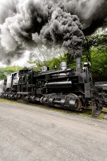 Shay #6 at Cass Scenic Railway