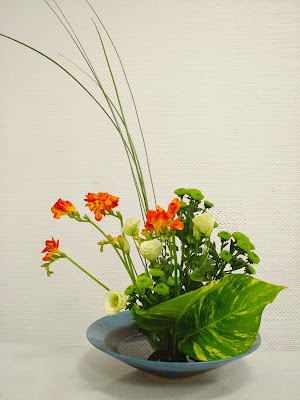 Le Chameau Bleu - composition florale - Ikebana nippon - art