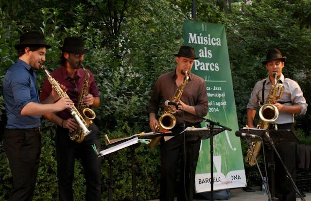 Música nos parques em Barcelona