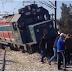 برج السدرية : خروج قطار لنقل المسافرين عن السكة (صور)