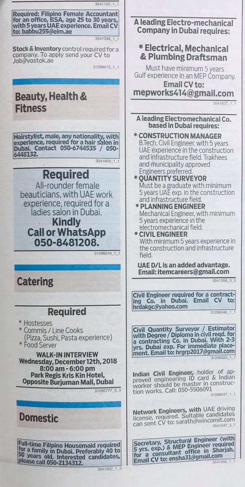 a50c3618d83 Required Multiple Positions Local Hiring Jobs Khaleej Times-UAE ...