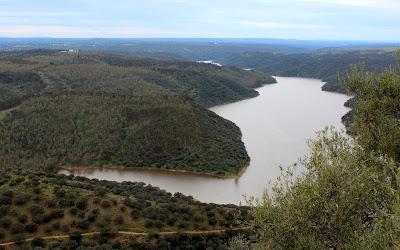 Vistas desde el castillo de Monfragüe