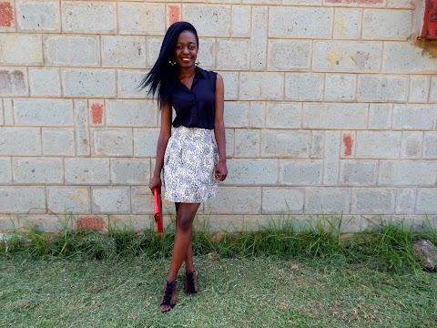 Thrifted A-line Skirt
