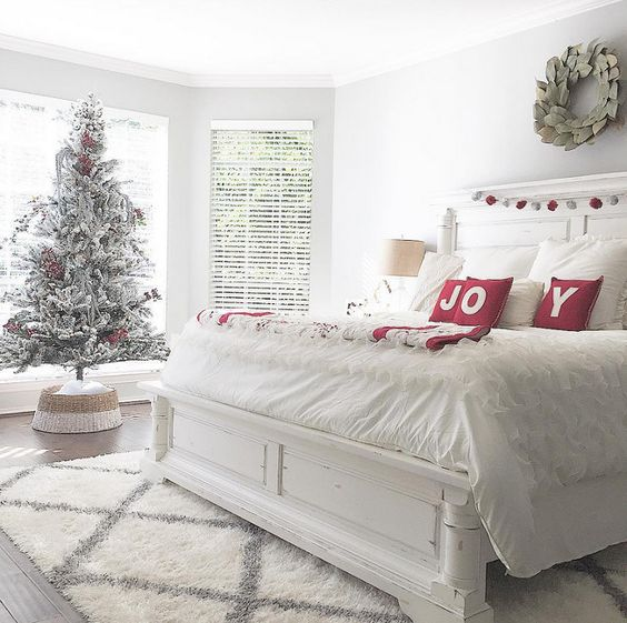 Christmas Stuff: 30 Christmas Bedroom Decorating Ideas On