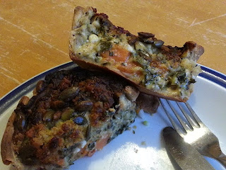 Higgidy Sweet potato, feta cheese and pumpkin seed pie