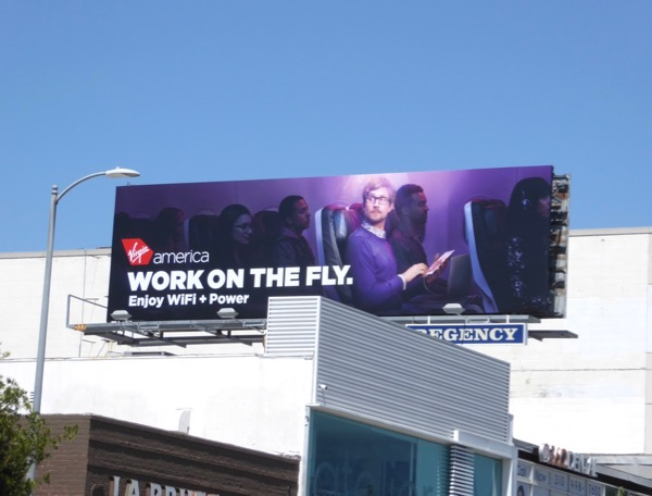 Virgin America Work on fly billboard