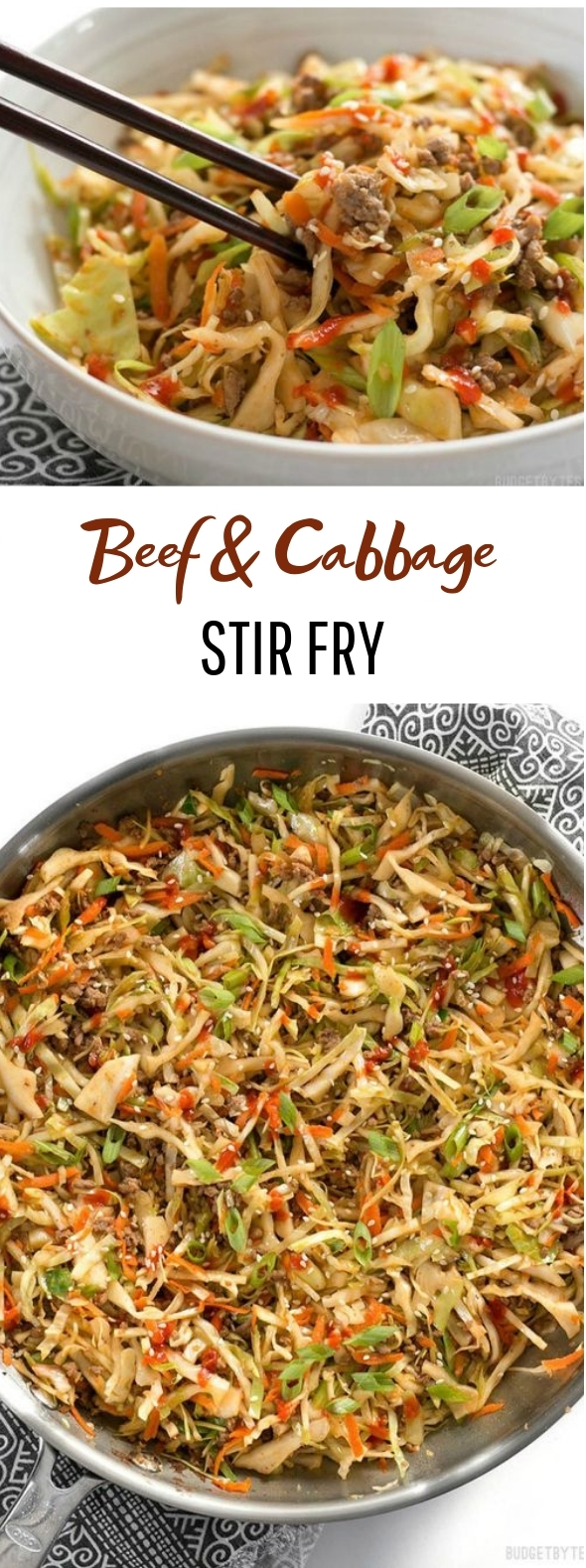 Beef and Cabbage Stir Fry #healthy #lowcarb