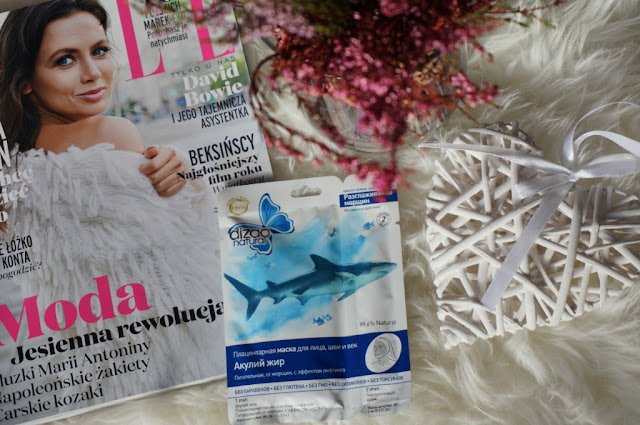 """Dizao Cosmetics - kolagenowa """"sheet mask"""" z olejem z rekina"""
