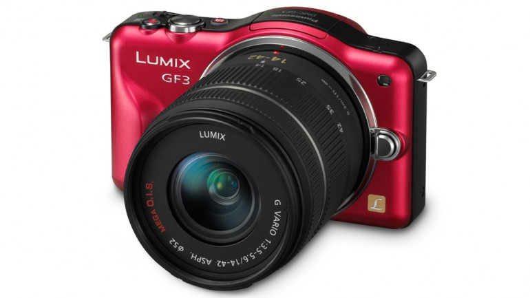 Panasonic Lumix DMC-GF3 red