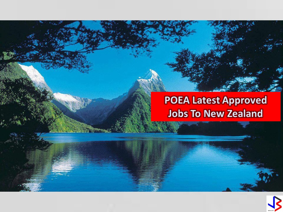 Complete List of New POEA Approved Jobs to New Zealand