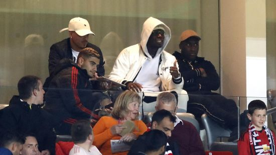 Pogba, Shaw and Pereira Watching Man Utd Clash with Derby County