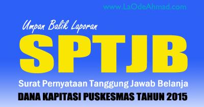 Umpan Balik Laporan Sptjb Puskesmas Di Kabupaten Karawang La Ode Ahmad