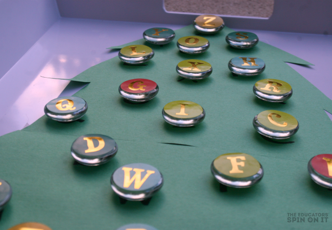 Alphabet Christmas Tree Activity for Kids from The Educators' Spin On It
