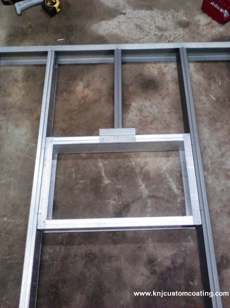 powder coating oven window frame