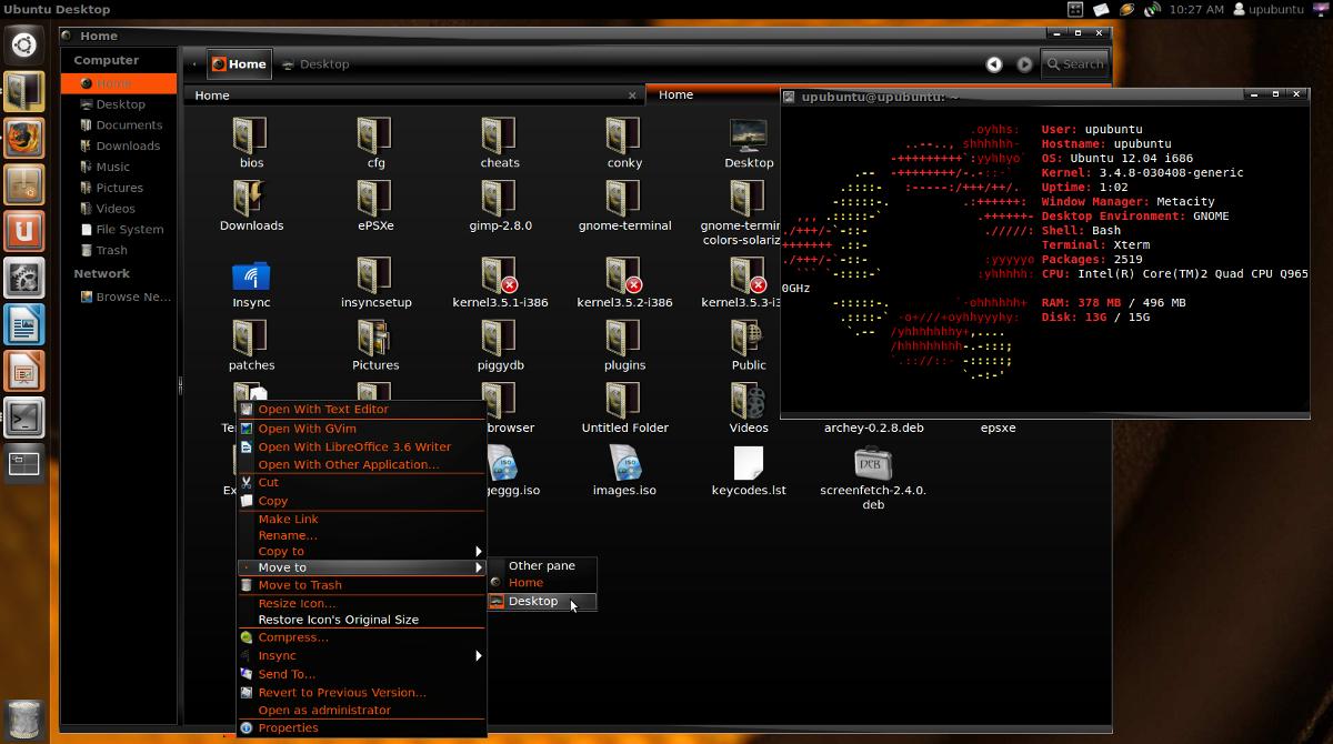 Sway Black-Base ORANGE: A Nice Dark GTK3 Theme For Unity