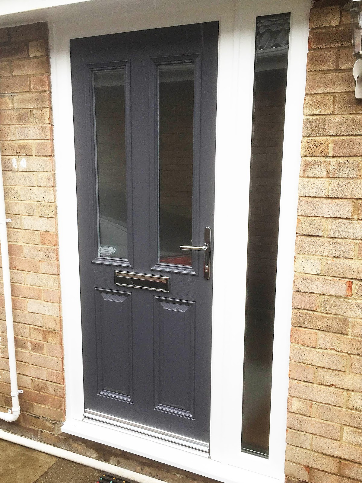 Grey is the new black altmore composite door with full for Composite windows