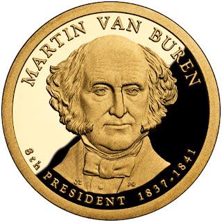 Martin Van Buren US Presidential One Dollar Coin