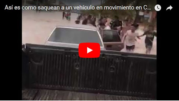 Así es como saquean a un vehículo en movimiento en Ciudad Ojeda