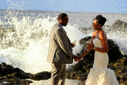 UK Bride, Trinidad Groom, Tobago Beach Wedding