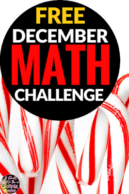 A FREE Christmas math activity. Just print and go! This December math challenge worksheet is perfect for advanced 2nd and 3rd graders. Use for math center activities, homework, problem of the week, small groups, or to get a breather during a holiday party. Fun for kids and NO PREP for teachers! Click for the free download. #christmas #free #christmasmath #education #math #secondgrade #thirdgrade #differentation