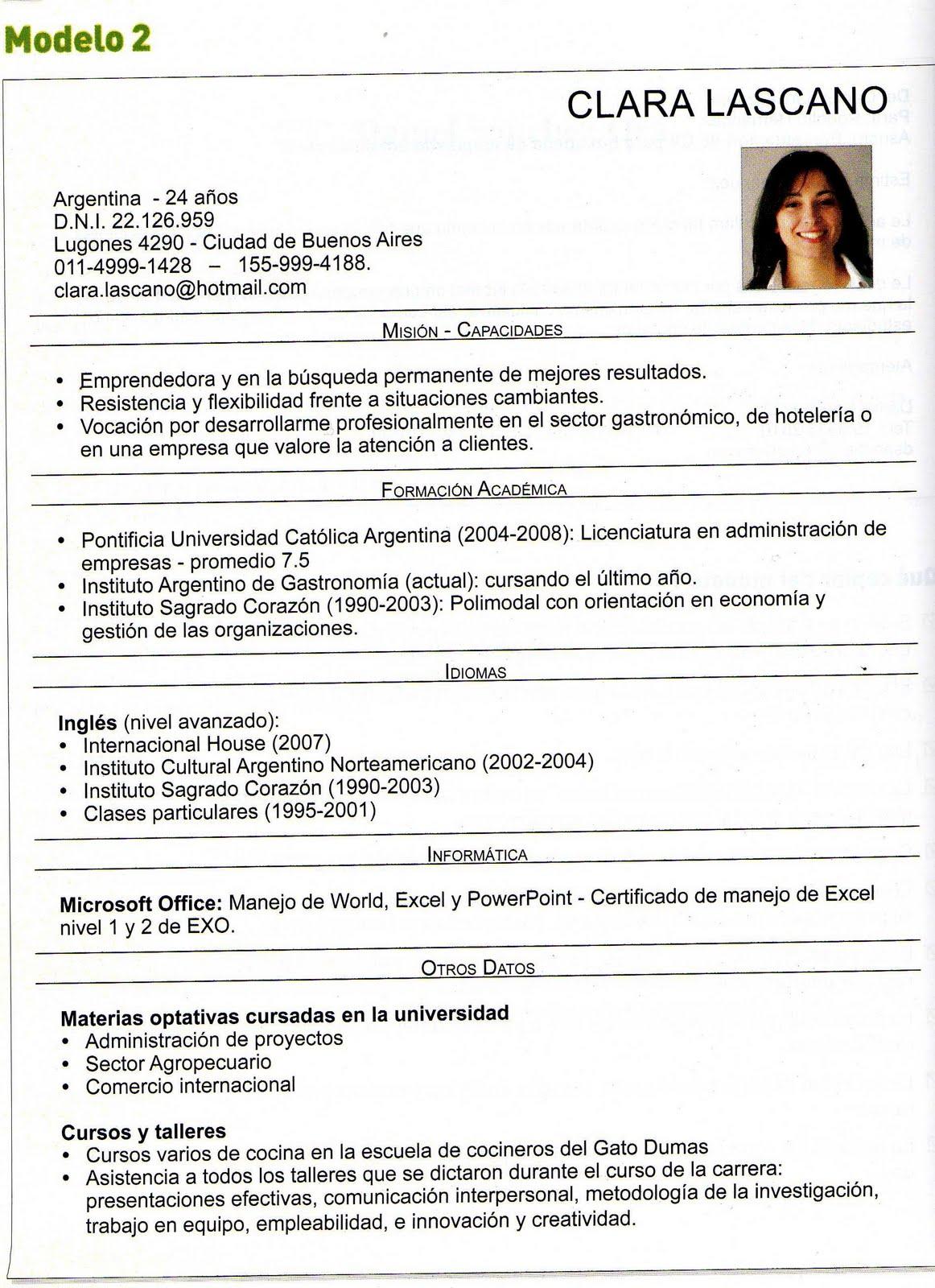 Excepcional Muestra De Curriculum Vitae Norteamericano Friso ...