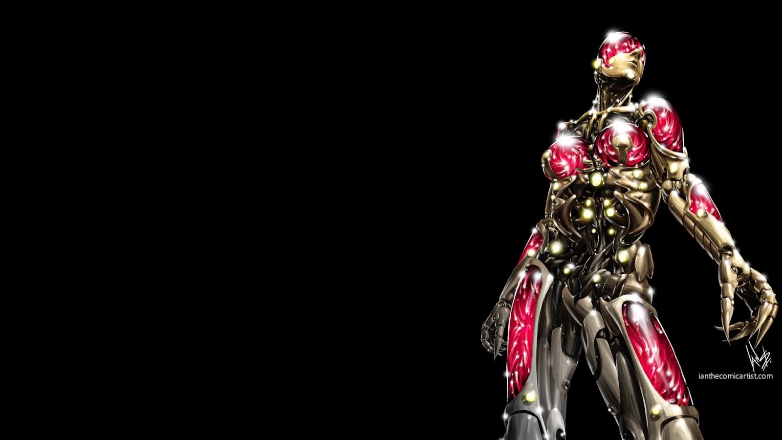 wallpaper cyberpunk metropolis robots - photo #25