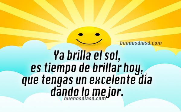 Frases bonitas de motivación de buenos días. imagen de feliz día, reflexiones de Mery Bracho,   frases positivas de lindo día.