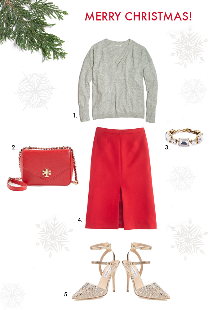 what to wear, gift ideas, christmas party, red pleated skirt, jcrew, nordstro, tory burch
