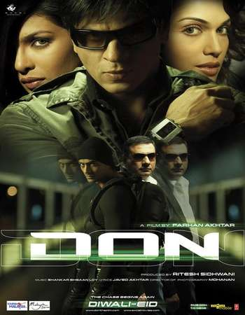 Poster Of Don 2006 Hindi 700MB BluRay 720p ESubs HEVC Watch Online Free Download downloadhub.in