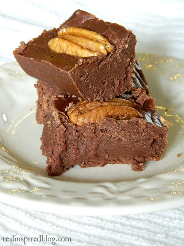 Easy Five Minute Holiday Fudge Recipe with Pecans