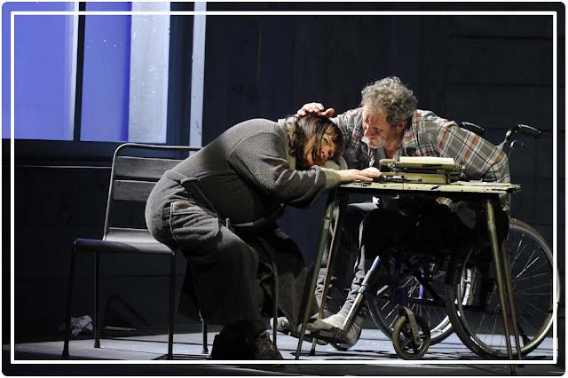 Misery de Stephen King au théâtre Hébertot avec Myriam Boyer et Francis Lombrail