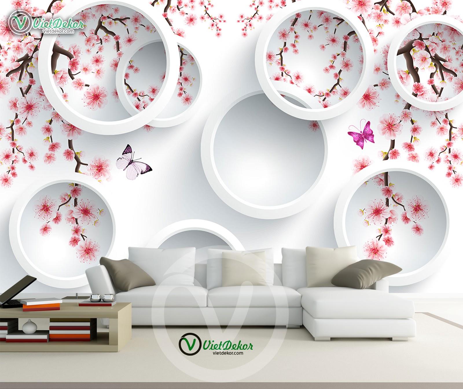 Tranh hoa 3D cho phòng khách phòng ngủ đẹp