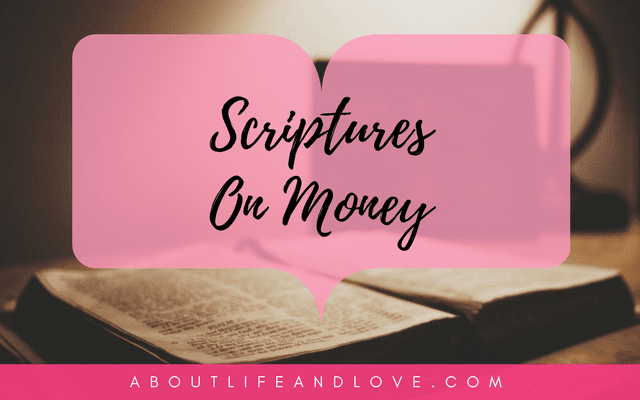 Scriptures On Money