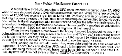 UFO Encounter with The U.S.S. Enterprise